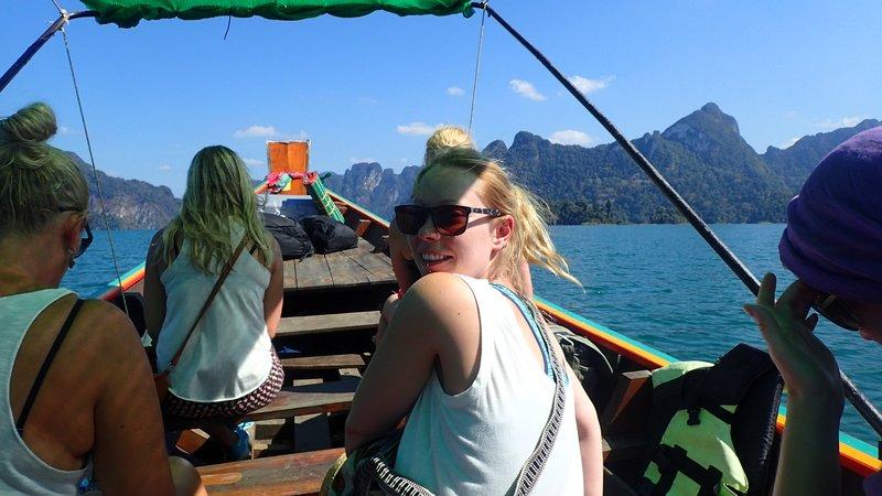 Kiwi on the return boat