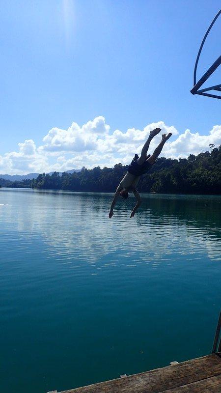 Jack diving