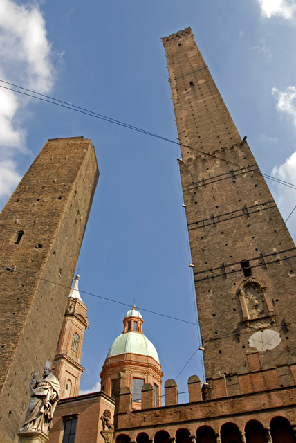 Twin Medieval Towers Of Bologna Bologna Italy