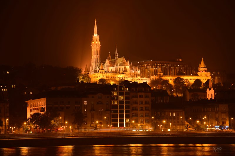 Matthias church by night Budapest