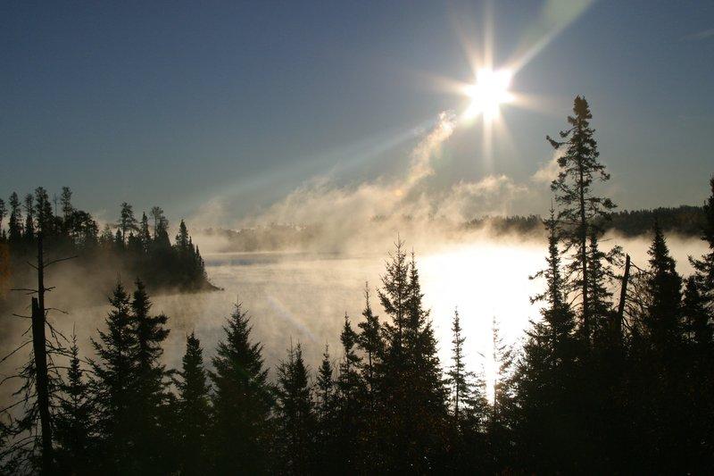 Cool but beautiful fall morning in Northwestern Ontario