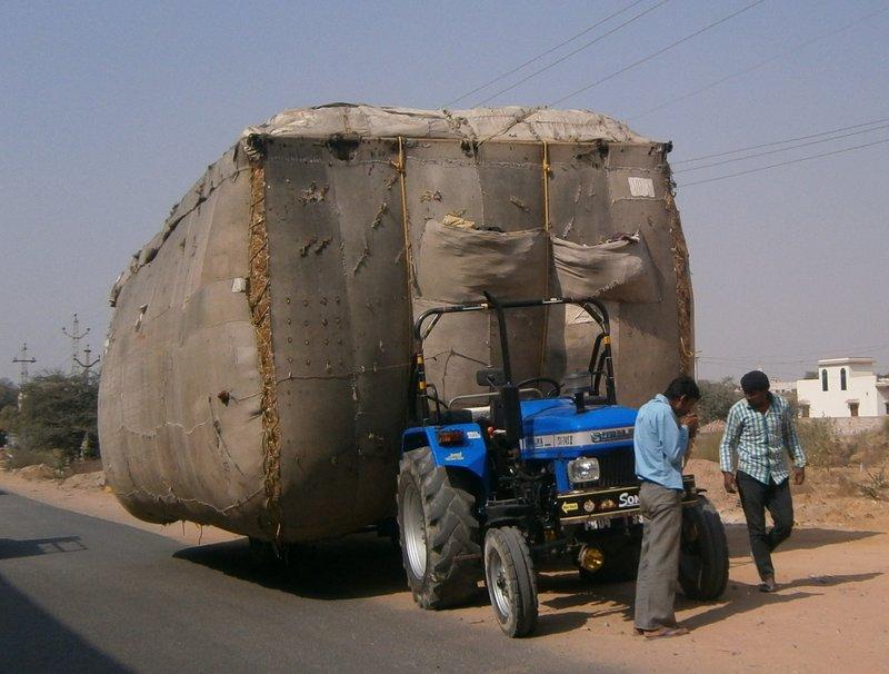 Local hay transport
