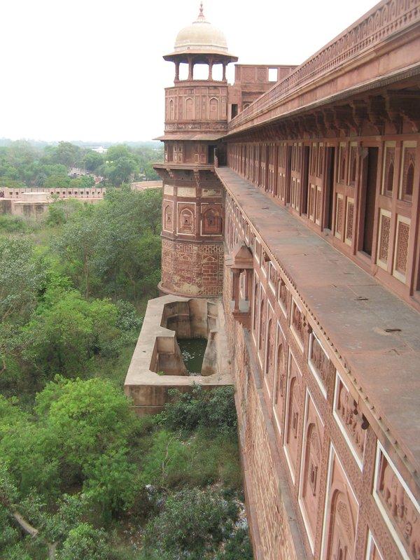 Fortress walls, Agra