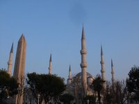 The Egyptian Obelisk and the Blue Mosque. Istanbul.