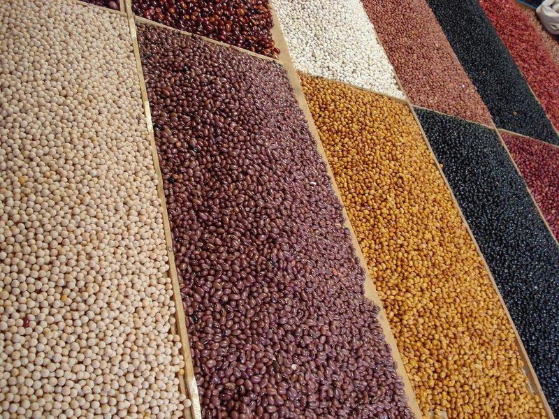 Beans on sale in San Cristobal