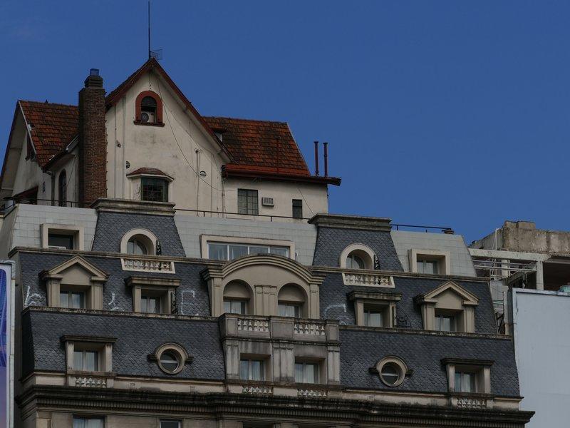 un chalet sur le toit