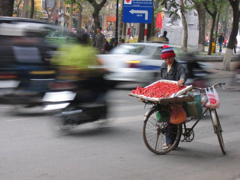 strawberries in Hanoi