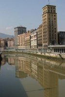 Bilbao city reflection