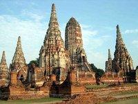 Pagoda in Wat Chai Wattanaram Temple, Ayudhya
