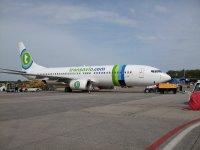 Transavia plane at Eindhoven Airport