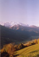 Bramberg, view of the Hohe Tauern