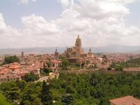 Segovia, Old town (view from the Alcazar tower)