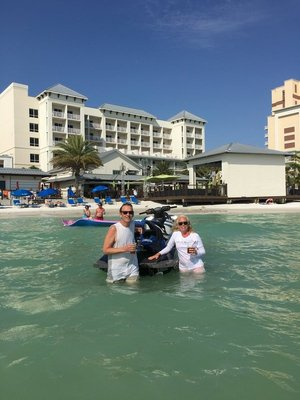 Jet-skied up to Shepherd's in Clearwater. This was a bucket list item.