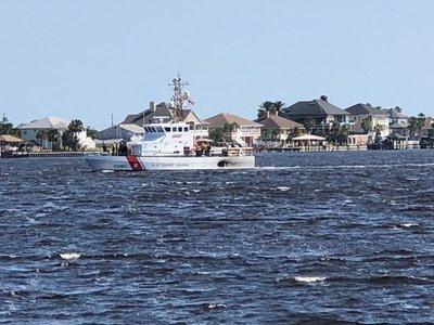 Coast Gaurd Cutter from Ft Caroline