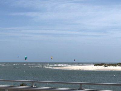Kite Surfers off Huguenot Park
