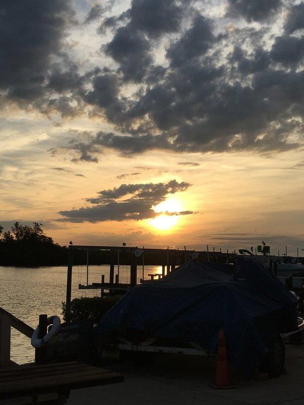 Sunrise from Dock Redington Shores