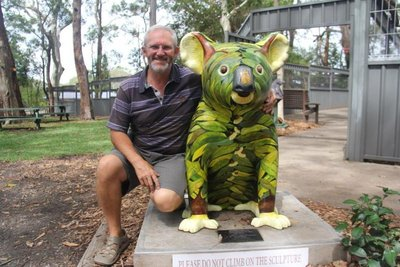 One of the 51 koala artworks is at the Koala Hospital