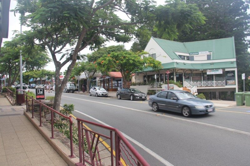 Buderim's main street is on the mountain overlooking the Sunshine Coast