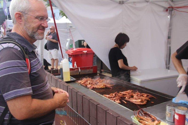 Calamari at Victoria Markets