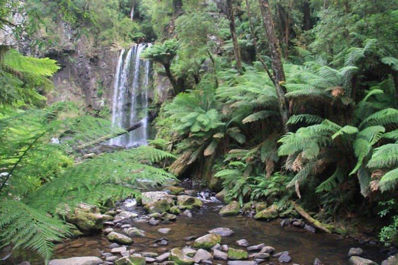 Hopetoun falls after a steep decline walk
