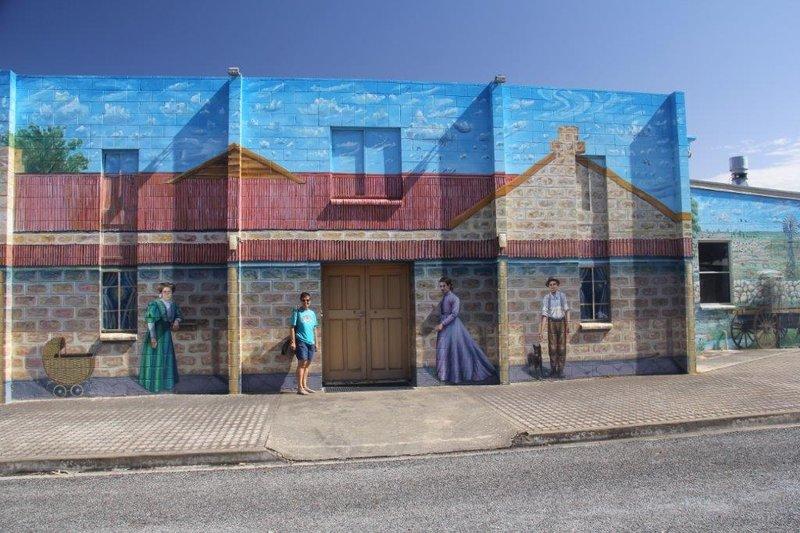 Huge Mural on Elliston Community Hall