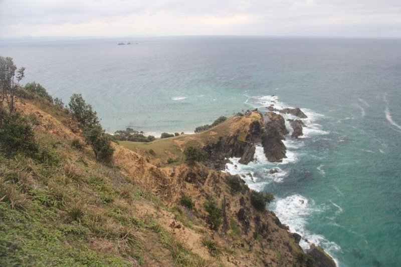 View down from the easterly point