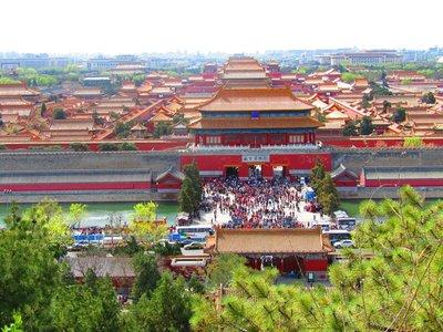 Tian'an Men Square from Jing Shan Park