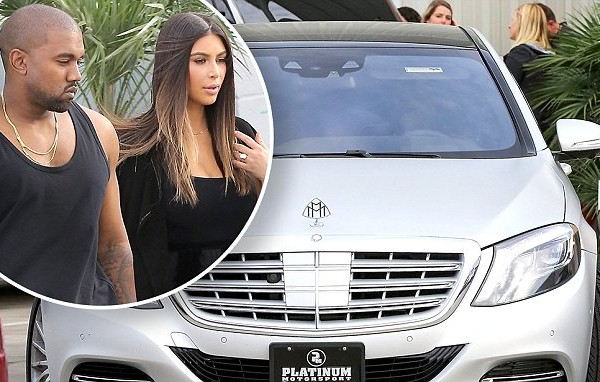Kanye West and Kim Kardashian's new Mercedes Maybach