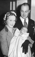 Lady Williams with her husband Gavin Welby and their baby Justin