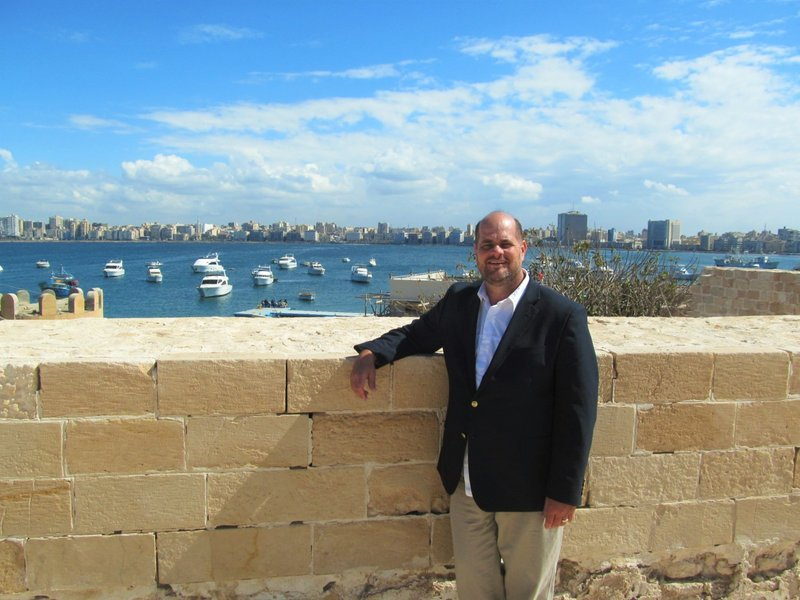 Tim in Alexandria, Egypt