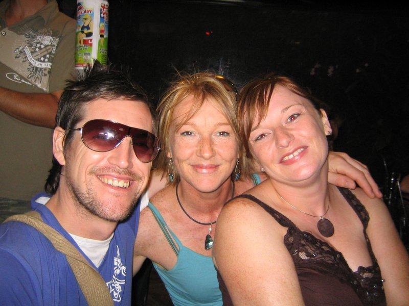 Tony, Sue and Sarah at the pub