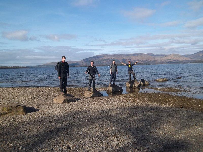 On the rocks at Loch Lomond