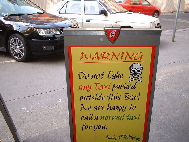 Outside a bar in Prague, by Piecar