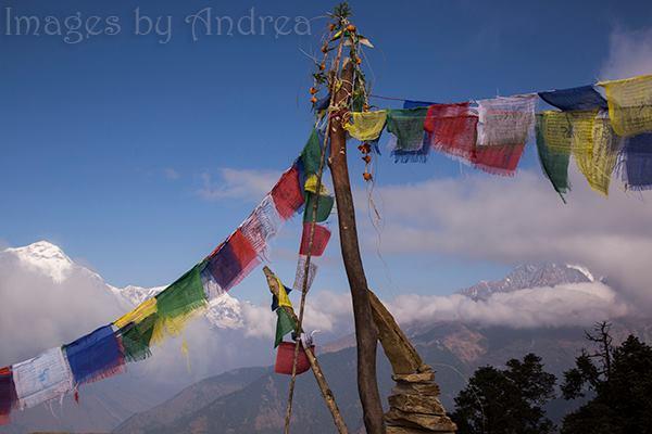 Prayer Flags & Mountains