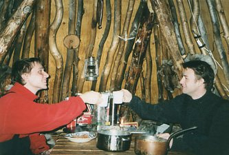 Lapland - dinner at the hut