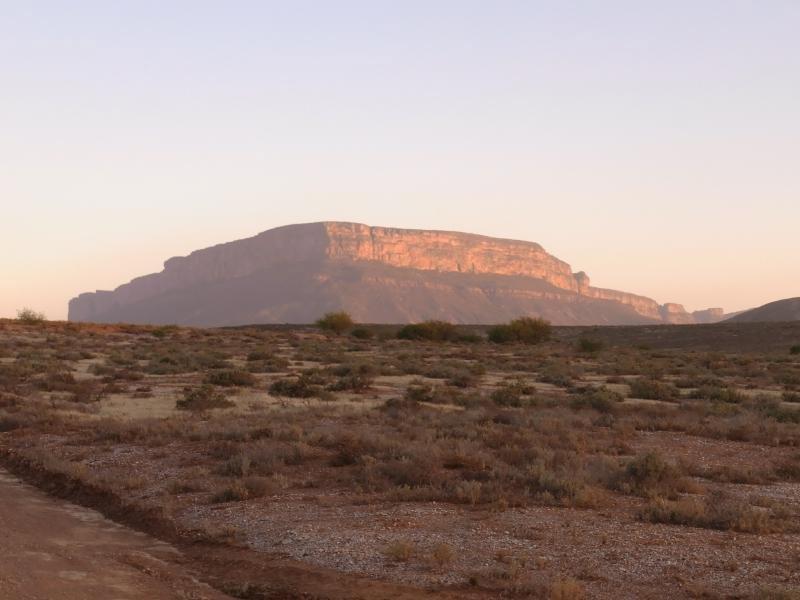 Vanrhynsdorp - Table mountain at sunset 2013