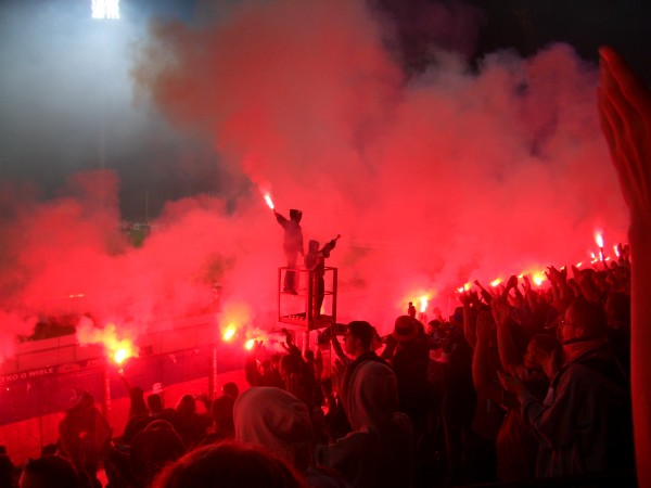 Krakow - football match Wisla Krakow vs FC Sevilla