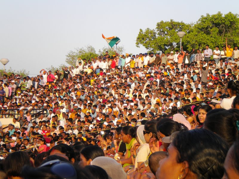 Crowd at the India/Pakistan Border Closing Ceremony
