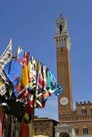 Siena Plazza del Campo Flags Fly