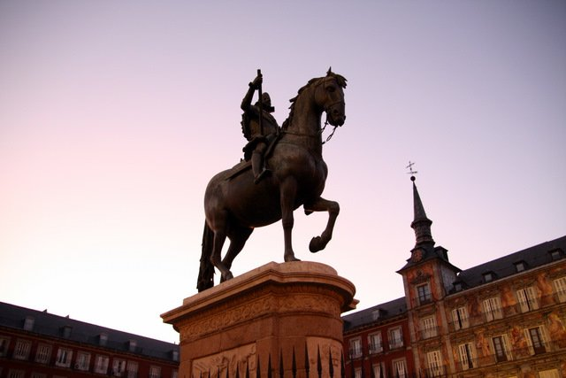 Central Statue in Plaza Mayor