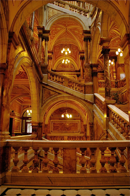 Council Chambers Interior - Full Marble Staircase