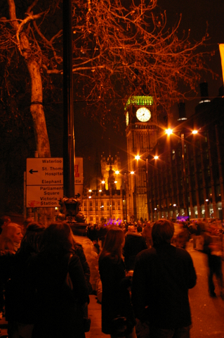 Big Ben as new year approaches