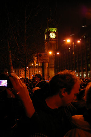 New Year celebrations under Big Ben