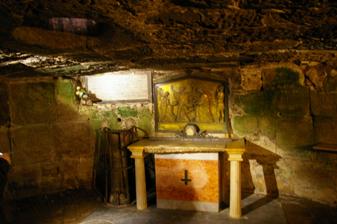 The cell which held the apostles Peter & Paul