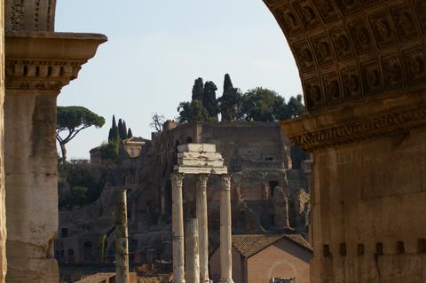 View through the arch of Septimius Severus