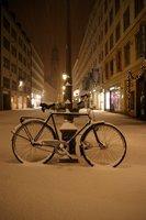 Midnight snow in Munich