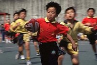 Mini rugby on Cheung Chau