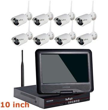 8CH WIFI 10inch WIFI Real Plug Play LCD NVR Kit