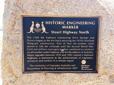 The Stuart Highway Marker