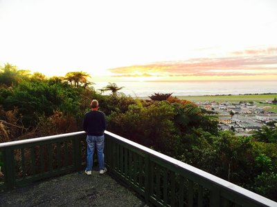 Sunset overlooking Greymouth.